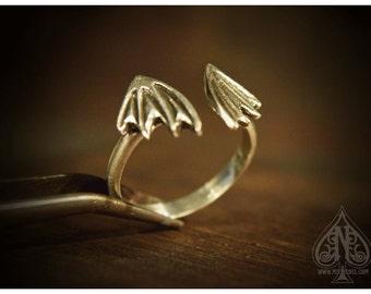 Ring Sterling silver Dragon Bat Wings