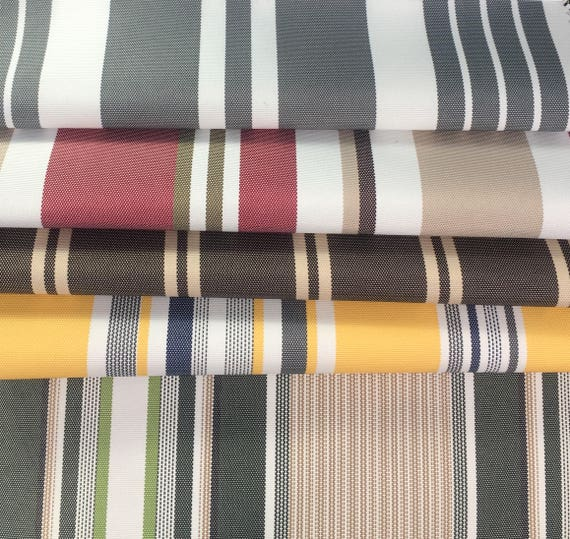 Outdoor Striped Waterproof Canvas Fabric 60 600 Denier