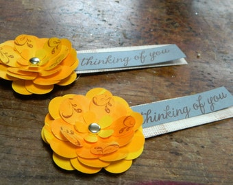 NEW - Marigold Flower Magnets - Set of 6