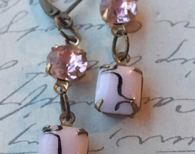 Earrings for Women, Swarovski Earrings, Crystal Earrings, Vintage Jewelry, Vintage Earrings