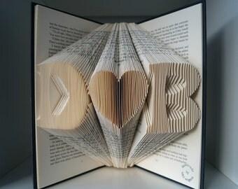 wedding gift for couple-Engagement gift-Regalo di fidanzamento-papiroflexia-folded book-regalo di matrimonio-Libro arte