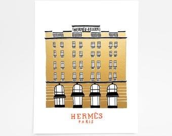 Hermès Paris, France - Art Print - 8 x 10
