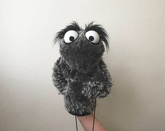 Professional Gray Furry Monster Puppet