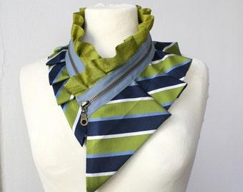 Gift for fashion lover - silk collar necklace, women's accessory, necklace, silk necklace, silk collar, women's collar, gift idea #197