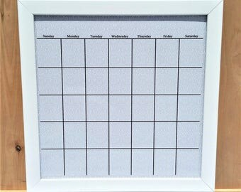 Framed Wall Calendar modern calendar | etsy
