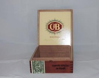 Hinged Wood Cigar Box