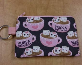 Keychain Coin Pouch - Hot Chocolate Mugs