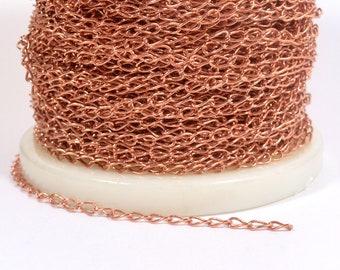 5mm Copper Curb Chain - 100% Copper - CHCU-CURB5 - Choose Your Length