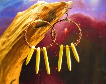 howlite hoop earrings