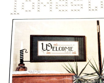 Welcome Cross Stitch Kit, Vintage 1983  Homestead Products Needle Art Welcome Project, DIY Kit itsyourcountry