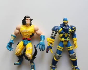 Vintage X-Men Wolverine and Cyclops Action Figure 2 Pack 1997