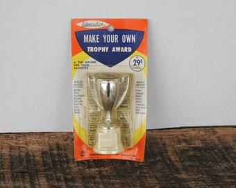 Vintage Commonwealth Plastics Admiration Make Your Own Trophy Award