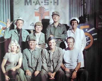 """Vintage MASH Poster, Television Cast Poster, Verkerke Netherlands 1979, 24"""" x 36"""""""