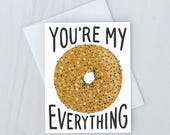 Everything Bagel Greeting Card