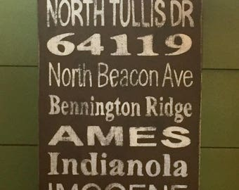 Location Subway Wall Art, Custom Made Location Sign, Unique Personalized Wall Art