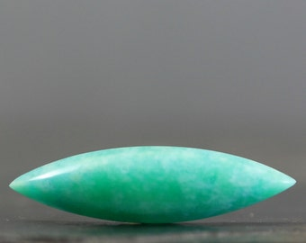 Marquise Amazonite Cabochon Natural Sea Green Semiprecious Stone Healing Crystal Jewelry Making Supply, Custom Jewellry (CA7295)