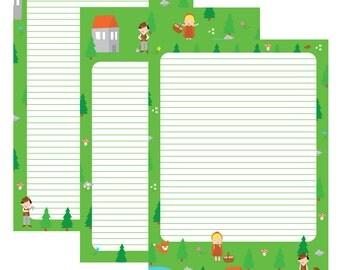 Fairy tales | Stationery printable | ankepanke