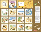 Shy Little Kitten Golden Book Fabric Collection 21365Z by Quilting Treasurers - Book Panel plus coordinating fabrics