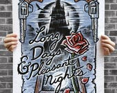 """The Dark Tower / Gunslinger - Stephen King - Book Quote Illustration Poster - 16x20"""" - Signed by the Artist"""