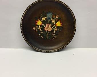 Wooden Plate Salsburg Germany Vintage
