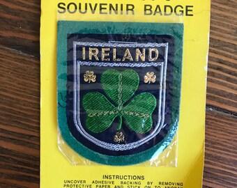 Vintage Ireland shamrock patch badge