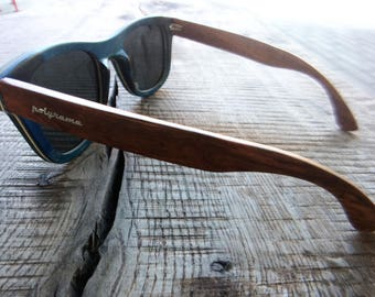 Polyrama Wood Wayfarer Sunglasses