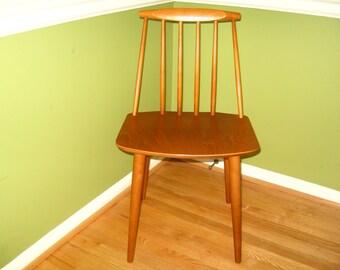 Folke Palsson for Fdb Mobler J77 Chair - Original Vintage Danish Modern Side Dining Chair