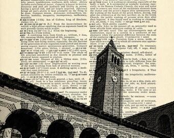 Mudd Hall USC Dornsife on Upcycled Vintage Dictionary Paper - 7.75x11