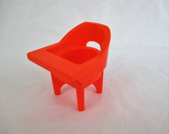Vintage Fisher Price Little People High Chair...FP 761, 1970s Fisher Price
