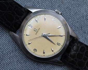 Vintage Omega Mechanical Wind Up Watch Oversized with deployment clasp
