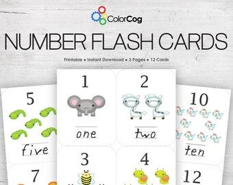 Number Flash Cards Printable PDF