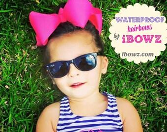 5 Neon waterproof hairbows    FREE SHIPPING  Waterprooof Swimming    Southern Bows   Baby  Girls   Neon   swimsuit bows   Bundle bows