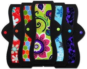 "Cloth Menstrual Pads (10"" Moderate - Set of 5)"