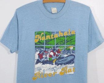 Vintage 80s Nantahala River Rat Screen Stars T-Shirt Men's M