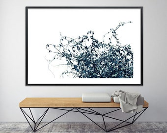 "Minimalist poster Modern botanical print tree print nature Giclee Print on canvas ""Zen Tree 8C"" up to 40X60 black and white huge wall decor"