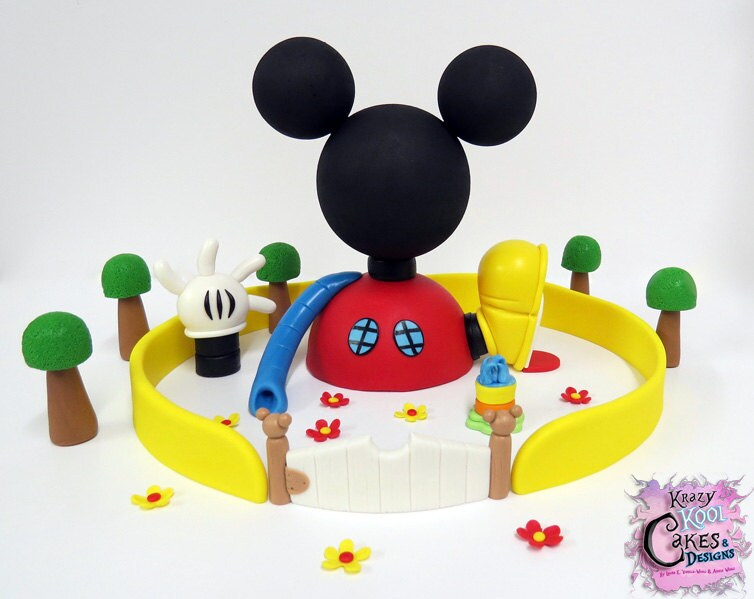 Larva Cartoon Cake Design : Mickey Mouse Clubhouse Cake Topper Set