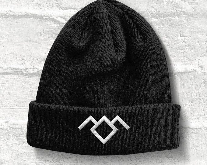 Twin Peaks Beanie Cap, Twin Peaks Hat, Black Lodge Beanie Cap Hat