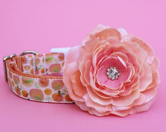 Dog Collar Flower Add-on Peach Dog Collar Flower