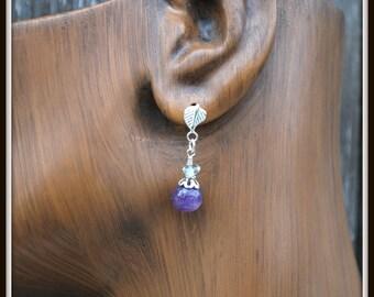 Amethyst Earrings, Purple Amethyst Earrings, Amethyst Post Earrings, Purple Stone Earrings, Everyday Earrings