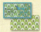 Peacock-themed Thank you cards