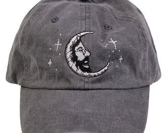 Jerry Moon Embroidered Baseball Cap - Charcoal