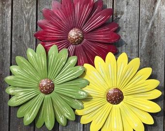 Metal Wall Flowers wall flowers | etsy