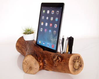 "RESERVED - iPad Docking Station / iPad Charging Station - plant holder - iPad Pro 9.7"" dock - iPad Air charging - Unique Gift"