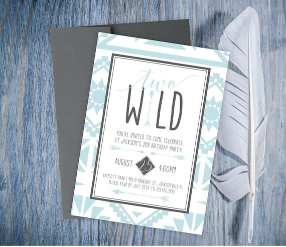 Birthday party invitations two wild birthday invitation 2nd il570xn stopboris Choice Image