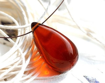 30%OFF SALE Brown Topaz bead, Huge drop bead, Teardrop bead, czech glass, large Briolette - 18x29mm - 1Pc - 2236