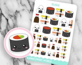 Kawaii Sushi | Planner Sticker Sheet