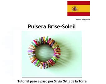 Pulsera Brise Soleil,Brise-Soleil Bracelet, Polymer Clay Tutorial. Spanish Version. Beginner-Intermediate level.