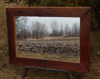 Barnwood Framed  Mirror