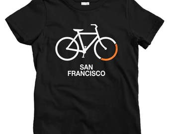 Kids Bike San Francisco T-shirt - Baby, Toddler, and Youth Sizes - Kids Tee, Gift for Kids, San Francisco Cycling Kids, Bicycle, SF Cycling