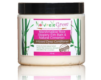 Marshmallow Root Slippery Elm Deep Conditioner -  hair growth hair conditioner naturellegrow